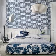 Сочетание цветов в интерьере спальни  в коттедже