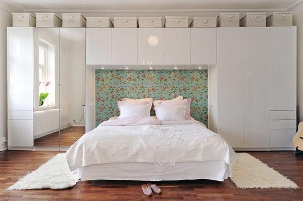 Дизайн комнаты кровать шкаф