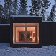 Маленький одноэтажный дом, утепленный, обогрев от дровяной печи