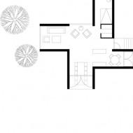 Подробный план маленького дома; вид сверху
