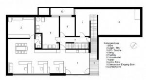 План расположение комнат в коттедже
