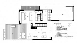 Планировка коттеджа; расположение комнат