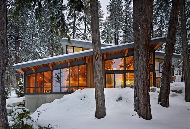 Проект коттеджа с плоскими односкатными крышами