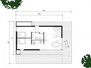 Расположение коинат в одно-этажном доме