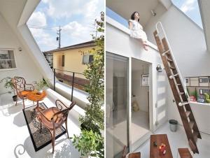 Проемы с крыше и стенах наполняют коттедж естественным светом