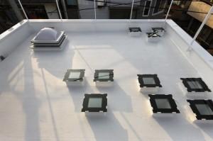 Открытая терраса на плоской крыше