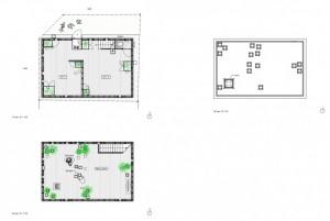 План с расположениями комнат в современном коттедже