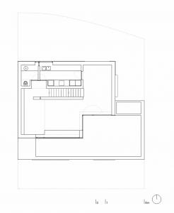 План второго этажа коттеджа с расположением комнат