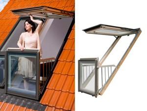 Пример и конструкция окна для наклонной крыши