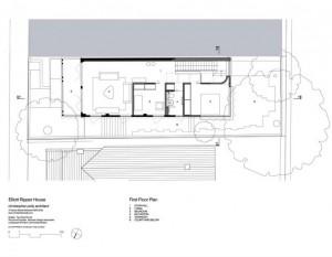 План расположения комнат в городском коттедже