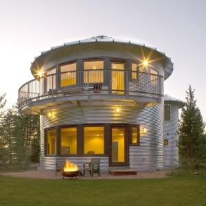 Оригинальный модульный дом округлой формы